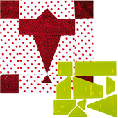 Airplanes Patchwork Template - Meredithe Clarke Signature Collection