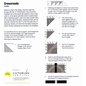 Cross Roads Patchwork Template Meredithe Clark Signature Collection