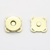 Spoke Magnetic Closure for Bags 18mm Antique Brass, Gold, Chrome and Gun Metal