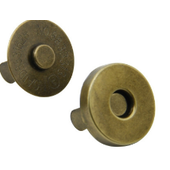 No Sew Magnetic Bag Snaps x 2 in Antique Brass, Gold, Chrome or Gun Metal Sewing Buddies Australia