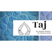 Taj Creative Grids Non-Slip Free Motion Quilting Tool / Ruler SEE VIDEO