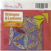 Orange and Lemons Patchwork Template Meredithe Clark Signature Collection Sewing Buddies Australia