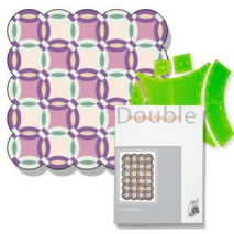 Double Wedding Ring + Book Patchwork Template ~ Matilda's Own