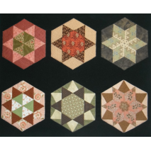 Hexagon Template Kit 04 by Zoe Clifton Sewing Buddies Australia