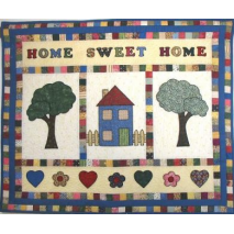 Home Sweet Home Wall Hanging by Zoe Clifton Sewing Buddies Australia