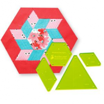 Pinwheel Hexagon Patchwork Template 2 Sewing Buddies Australia