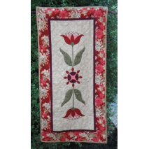 Red Lily Table Runner - by Zoe Clifton Sewing Buddies Australia