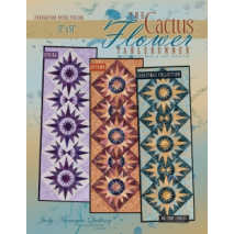 The Cactus Flower Table Runner Pattern Judy Niemeyer Sewing Buddies Australia