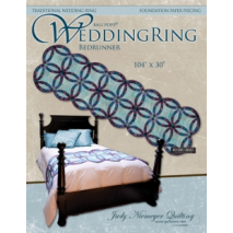Wedding Ring Bed Runner Pattern Judy Niemeyer Sewing Buddies Australia