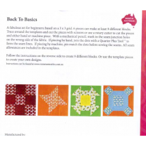 Back To Basics 3g Patchwork Template Set - Matilda's Own 3 Sewing Buddies Australia