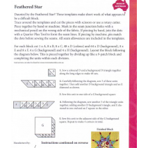 Feathered Star Patchwork Template Meredithe Clark Signature Collection 4 Sewing Buddies Australia