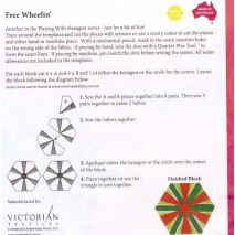 Free Wheelin' Patchwork Template - Meredithe Clarke Signature Collection 2 Sewing Buddies Australia