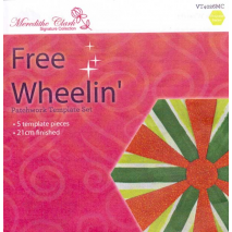 Free Wheelin' Patchwork Template - Meredithe Clarke Signature Collection Sewing Buddies Australia