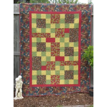 Stepping Around The Cabin Quilt - by Zoe Clifton Sewing Buddies Australia
