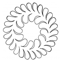 "Feather Wreath 5"" #30342   by Full Line Stencils by Full Line Stencils"