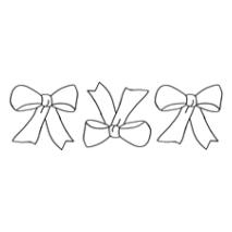 Pretty Bow Border #30361 Sewing Buddies Australia
