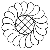 Feather Wreath with Grid #30364   by Full Line Stencils by Full Line Stencils