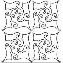 Suzy Q #30428 repeating pattern