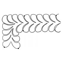 Easy Feather Border, small #30468 by Full Line Stencils