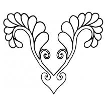 Secret Heart Feather #30475 by Full Line Stencils