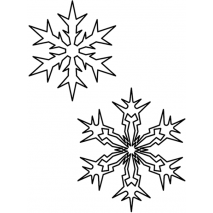 Continuous Snowflake Pair 1 #30523 by Full Line Stencils