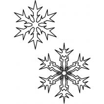 Continuous Snowflake Pair 1 #30523 Sewing Buddies Australia