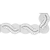 Cable Feather Border #30556 2 Sewing Buddies Australia