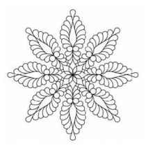 Feather Star, #30583 by Full Line Stencils
