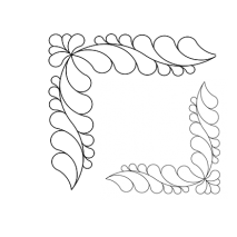Feather Corner, 2x #30584 by Full Line Stencils