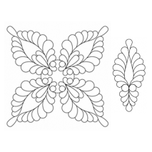 Feather More #30593 by Full Line Stencils