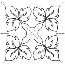 """Fancy Tri-Leaf 7"""" #30617 Sewing Buddies Australia"""