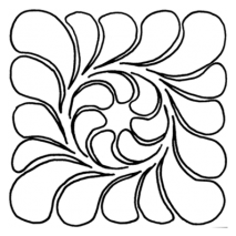 "Feather Block, 5"" #30675 by Full Line Stencils"