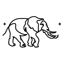 Elephants on the run #50005 by Full Line Stencils