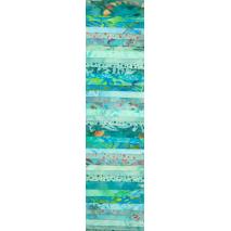 Aqua Teal 1 Rainbow aka Jelly Roll Sewing Buddies Australia