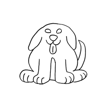 Front Facing Puppy, small #30379 Sewing Buddies Australia