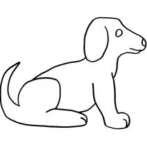 Side Facing Dog, lg #30382 Sewing Buddies Australia