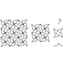Geometrical, 3x #30629 Sewing Buddies Australia