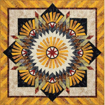 Tanished Windmill by Judy Niemeyer Completed Quilt