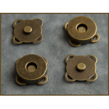 Spoke Magnetic Closure for Bags 18mm Antique Brass Sewing Buddies Australia