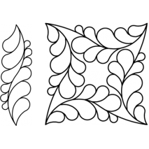 """9"""" Lorin Square with Border #30685 by Full Line Stencils"""