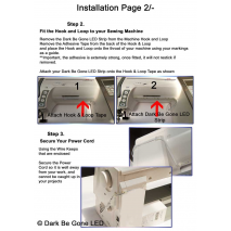 How to Install your Dark Be Gone LED Sewing Machine Light Page 2
