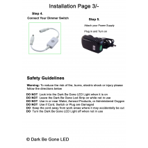 How to Install your Dark Be Gone LED Sewing Machine Light Page 3