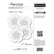 Impatiens Placemat Extra Foundation Papers Judy Niemeyer Sewing Buddies Australia
