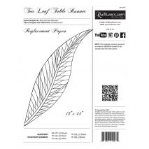 Tea Leaf Table Runner Extra Foundation Papers Judy Niemeyer Sewing Buddies Australia