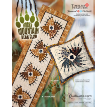 Rocky Mountain Bear Claw Table Runner and Pillow Sewing Buddies Australia