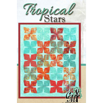 Tropical Stars - Quilt Pattern by Cindi McCracken Designs Sewing Buddies Australia