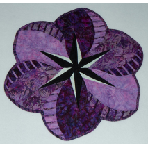 African Violet Placemat by Judy Niemeyer