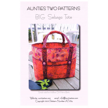 Big Sebago Tote bag by Aunties Two Patterns Sewing Buddies Australia