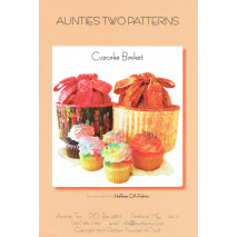 Cupcake Basket by Aunties Two Patterns ~ Jelly Roll Friendly Sewing Buddies Australia