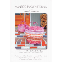 Free Port Gatherer Bag by Aunties Two Patterns ~ Jelly Roll Friendly Sewing Buddies Australia